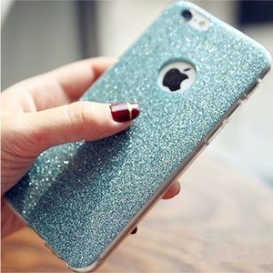 Accessories - Blue Glitter Soft iPhone Case Various Sizes